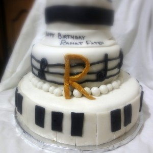 Three tiered cake for Rahat Fateh Ali Khan