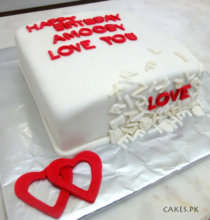 Love Images In Cake : Love Letter Cake Cakes.pk