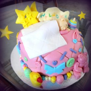 welcome a new baby cake
