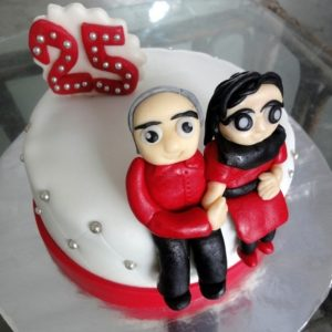 25 wedding anniversary cake