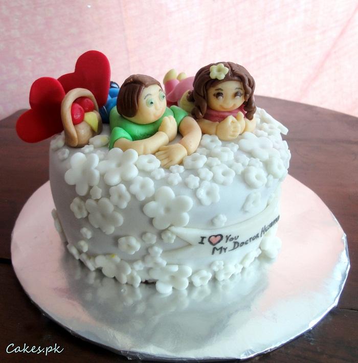 Happy Couple Cake Cakes.pk