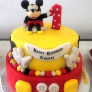 cartoon theme cake