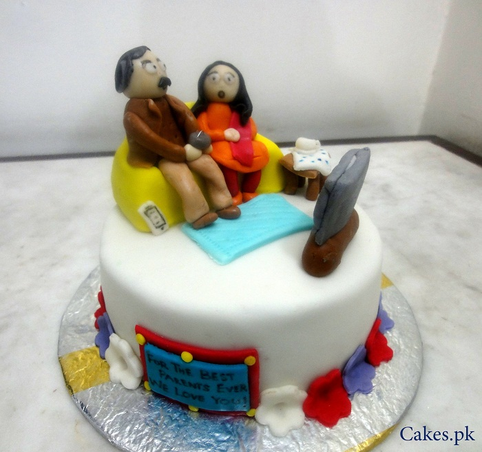 Cake Ideas For Parents Anniversary : Specialized Anniversary Cake Cakes.pk