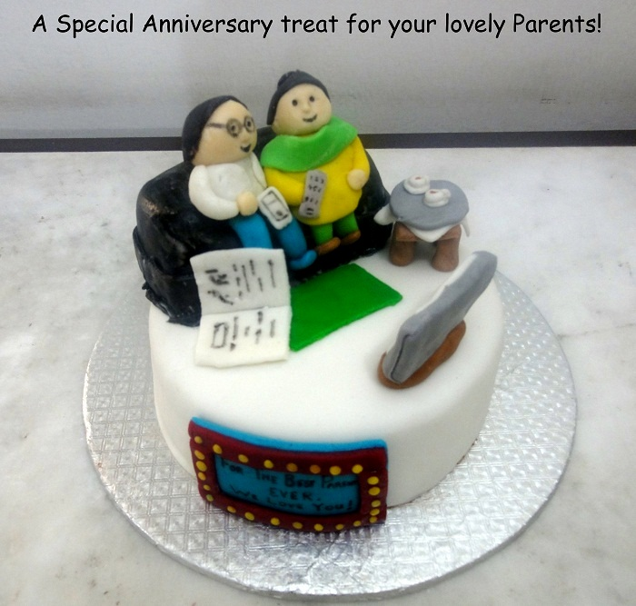 Cake Ideas For Parents Anniversary : Special Anniversary Cake for Parents Cakes.pk