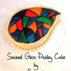 stain glass cake
