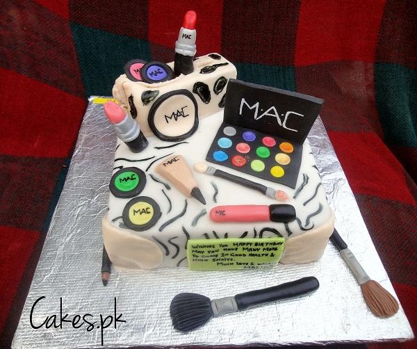 Makeup Themed Cake Images : Make-up theme Cake Cakes.pk