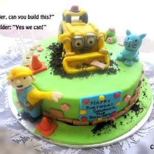little builder cake
