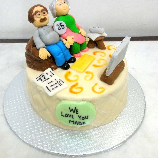 Cake Ideas For Parents Anniversary : Parents Silver Anniversary Cake Cakes.pk