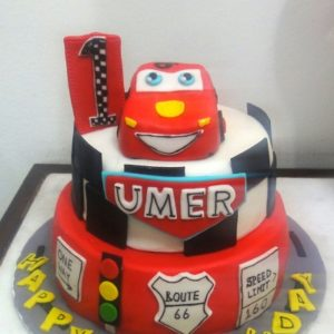 cars themed cake