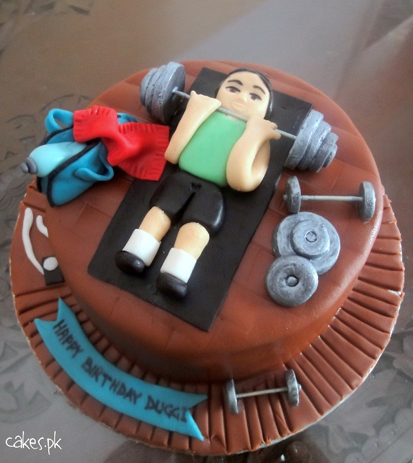 Images Of Gym Cake : Gym Themed Cake Cakes.pk
