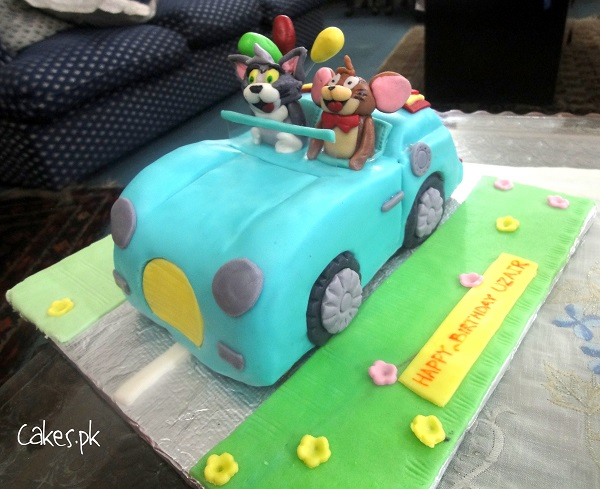 Tom And Jerry Car Cake Cakespk