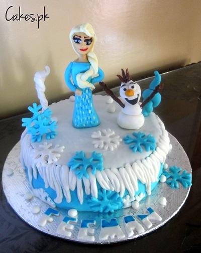 Frozen Ice Cream Cake Images : Disney Frozen Themed Cake Cakes.pk