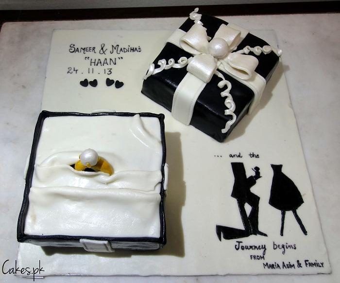 Engagement Gift Box Cake