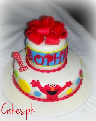 Miraculous Elmo Themed First Birthday Cake Cakes Pk Funny Birthday Cards Online Alyptdamsfinfo
