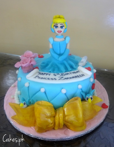Excellent Cinderella Themed Cake Cakes Pk Personalised Birthday Cards Petedlily Jamesorg