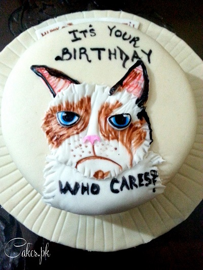 Remarkable Grumpy Cat Cake Cakes Pk Funny Birthday Cards Online Inifofree Goldxyz